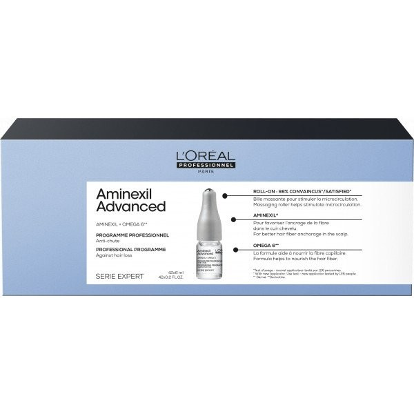 Anti-Caida Aminexil + omega 6 Advanced X 42 L´Oréal Ampollas 6 Ml