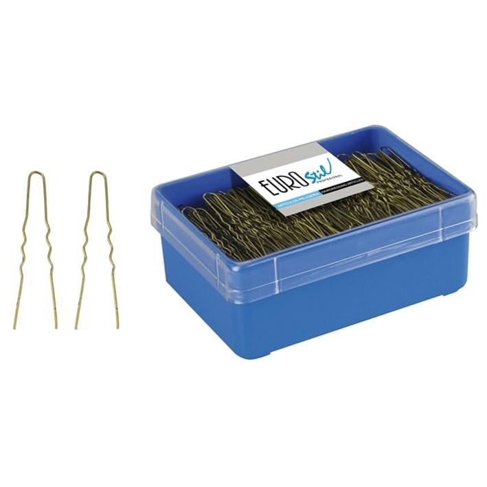 caja 400 horquillas invisibles bronce