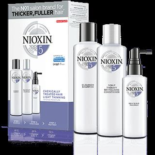 Kit nioxin sistema 5 para cabellos tratados con químicos y un poco debilitados