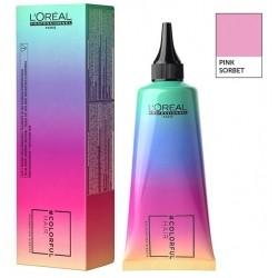 colorful hair loreal pink sorbet