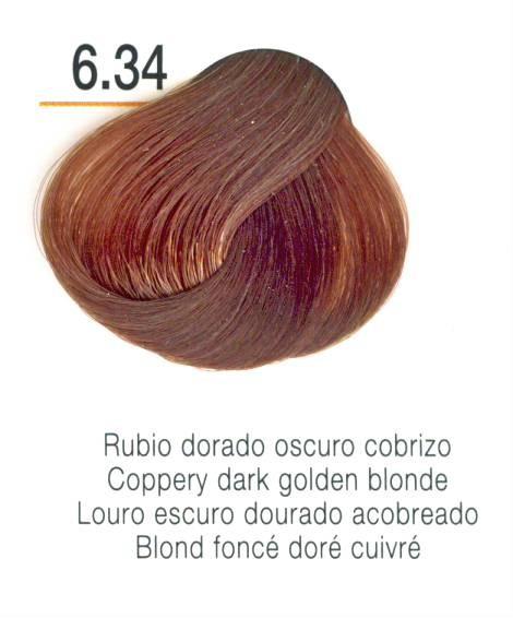 TINTE EN CREMA RISFORT COLOR RUBIO DORADO OSCURO COBRIZO