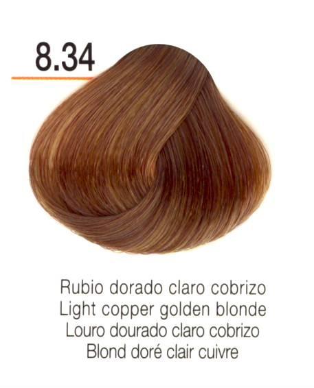 TINTE EN CREMA RISFORT COLOR RUBIO DORADO CLARO COBRIZO
