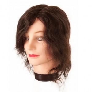 cabeza maniqui cabello natural 20-30cm