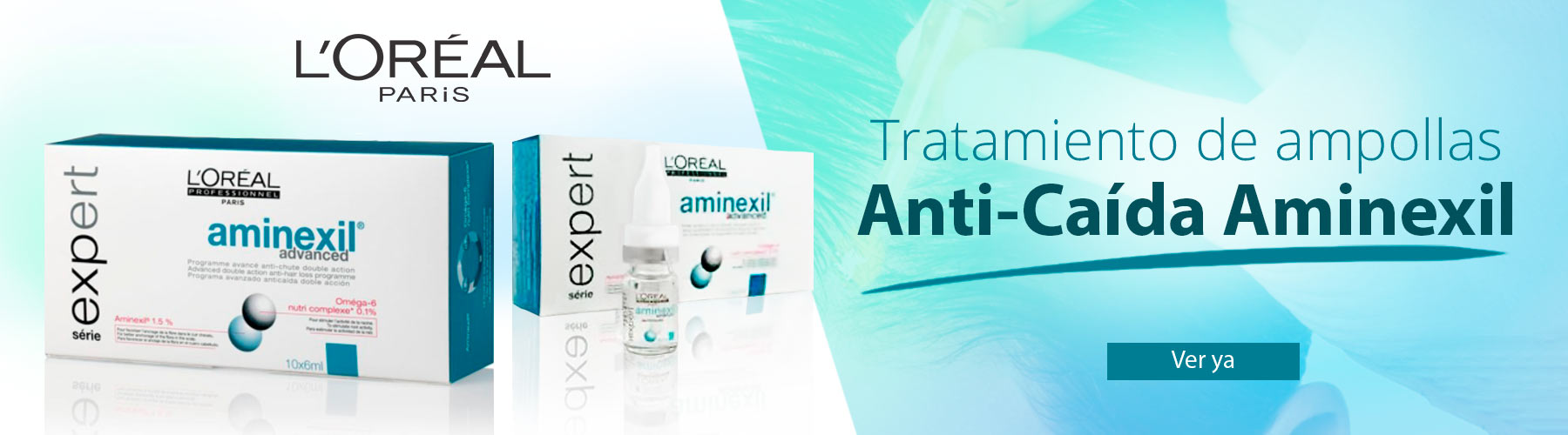 Aminexil para la caida del pelo